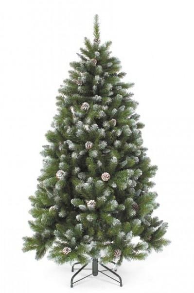 Елка Triumph Tree Императрица заснеженная с шишками 185 см