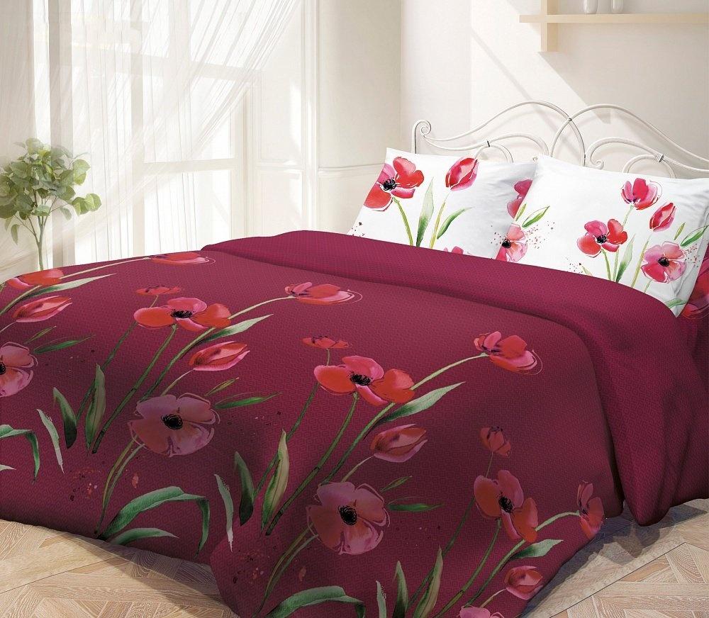 Гармония Поплин (красный) (размер: 148х215 см)