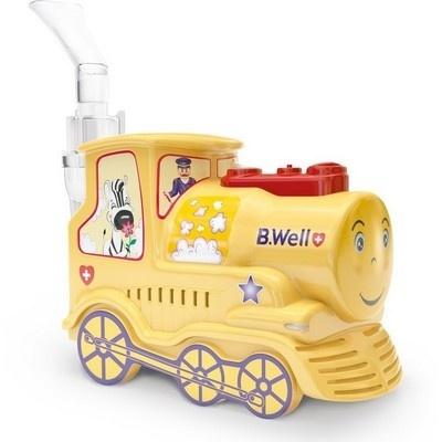 Детский компрессорный ингалятор B.Well PRO-115 Паровозик
