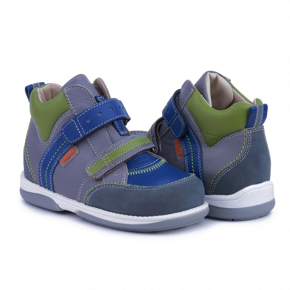 b68eed8d9fad3d Детская профилактическая обувь MEMO Polo Junior DRMB 3BC серо/синий ...