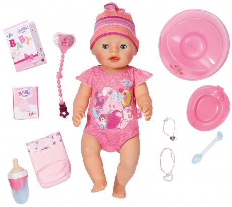 Baby Born в полосатой шапочке