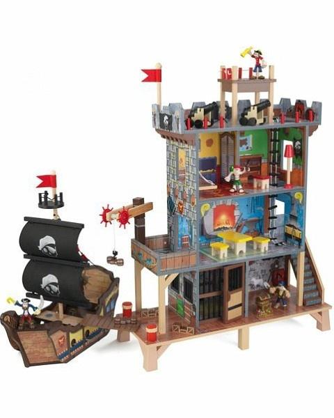 Пиратская крепость с кораблем