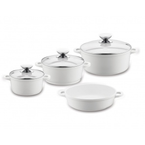Berndes 032100 VARIO CLICK INDUCTION WHITE 4 пр.