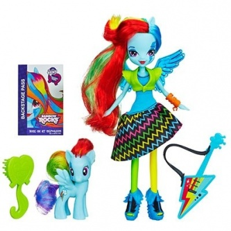 Кукла Hasbro My Little Pony Equestria Girls с пони Rainbow dash - 23 см