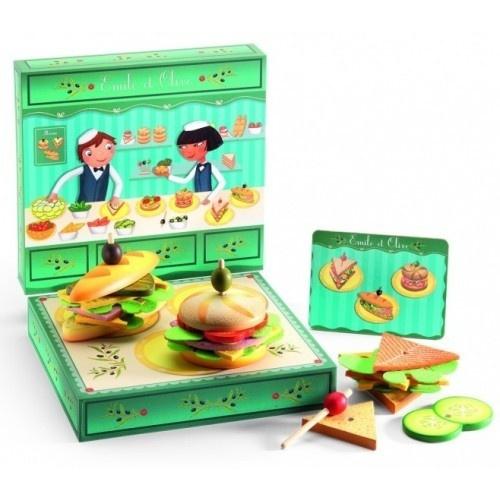 Игрушечные деревянные сэндвичи Djeco от Эмиля и Олив