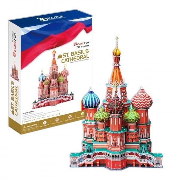 Объемный 3D пазл CubicFun Собор Василия Блаженного
